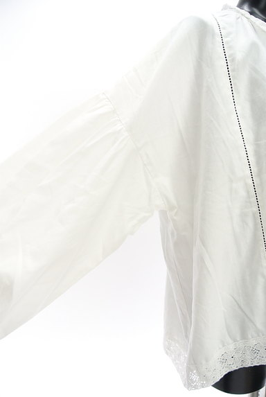 SM2(サマンサモスモス)の古着「ボリューム袖スキッパーカラーカットソー(ブラウス)」大画像4へ