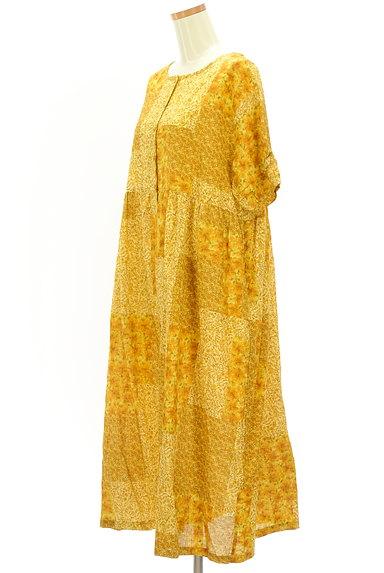 SM2(サマンサモスモス)の古着「パッチワーク風小花柄ワンピース(ワンピース・チュニック)」大画像3へ
