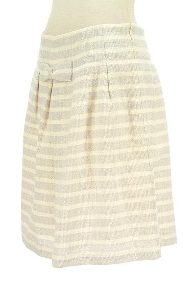 DO!FAMILY(ドゥファミリー)の古着「リボン付きボーダーフレアスカート(スカート)」大画像3へ