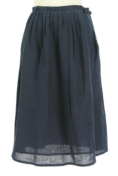 DO!FAMILY(ドゥファミリー)の古着「サイドリボン膝下丈リネンスカート(スカート)」大画像1へ