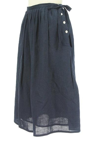 DO!FAMILY(ドゥファミリー)の古着「サイドリボン膝下丈リネンスカート(スカート)」大画像3へ