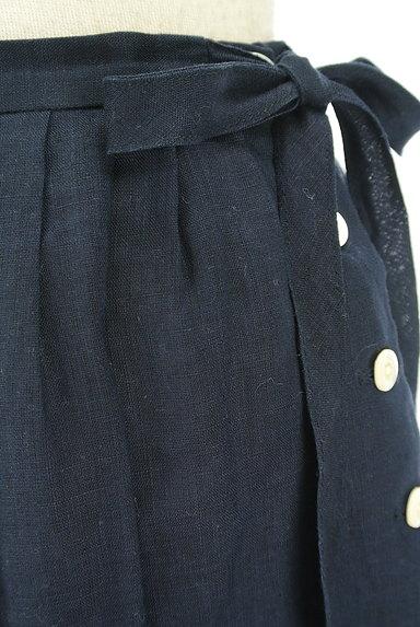 DO!FAMILY(ドゥファミリー)の古着「サイドリボン膝下丈リネンスカート(スカート)」大画像4へ