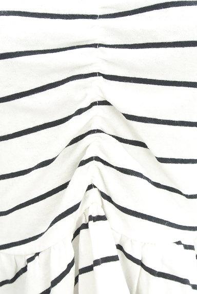 ROYAL PARTY(ロイヤルパーティ)の古着「白黒ボーダーペプラムカットソー(カットソー・プルオーバー)」大画像5へ