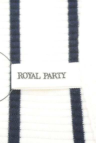ROYAL PARTY(ロイヤルパーティ)の古着「ハートネックボーダーリブニット(ニット)」大画像6へ