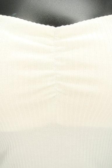 ROYAL PARTY(ロイヤルパーティ)の古着「シアー肩リボンリブキャミソール(キャミソール・タンクトップ)」大画像5へ