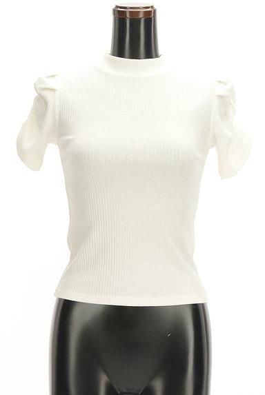 ROYAL PARTY(ロイヤルパーティ)の古着「ボリューム袖半袖リブニット(カットソー・プルオーバー)」大画像1へ