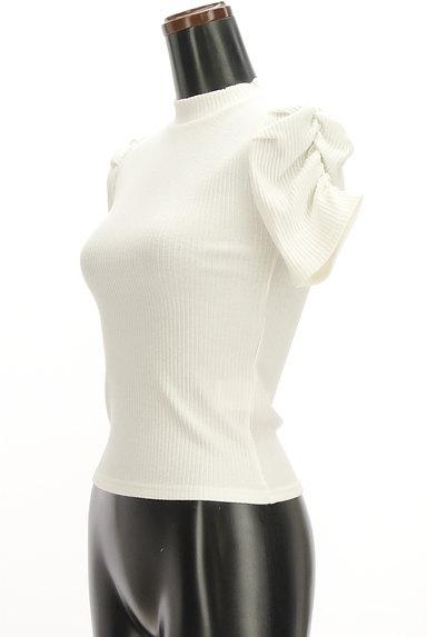 ROYAL PARTY(ロイヤルパーティ)の古着「ボリューム袖半袖リブニット(カットソー・プルオーバー)」大画像3へ