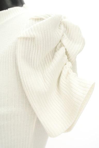 ROYAL PARTY(ロイヤルパーティ)の古着「ボリューム袖半袖リブニット(カットソー・プルオーバー)」大画像5へ