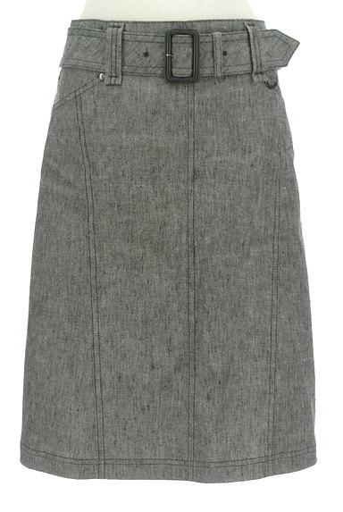 BURBERRY BLACK LABEL(バーバリーブラックレーベル)の古着「ベルト付きコットンリネン膝下丈スカート(スカート)」大画像1へ