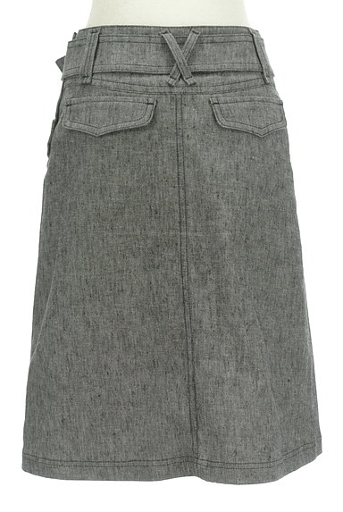 BURBERRY BLACK LABEL(バーバリーブラックレーベル)の古着「ベルト付きコットンリネン膝下丈スカート(スカート)」大画像2へ