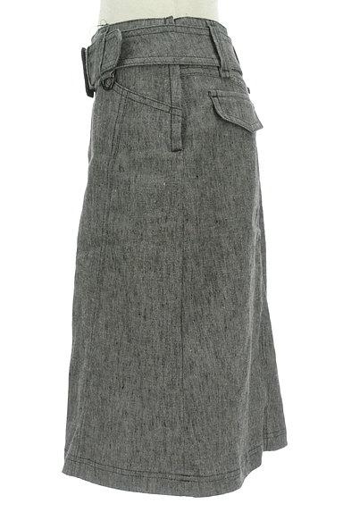 BURBERRY BLACK LABEL(バーバリーブラックレーベル)の古着「ベルト付きコットンリネン膝下丈スカート(スカート)」大画像3へ