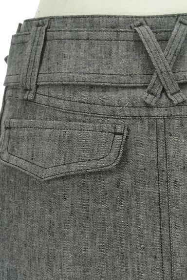 BURBERRY BLACK LABEL(バーバリーブラックレーベル)の古着「ベルト付きコットンリネン膝下丈スカート(スカート)」大画像5へ