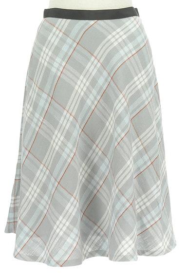 INED(イネド)の古着「膝下丈チェック柄フレアスカート(スカート)」大画像1へ