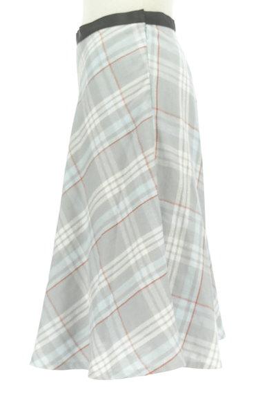 INED(イネド)の古着「膝下丈チェック柄フレアスカート(スカート)」大画像3へ