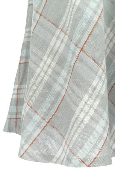 INED(イネド)の古着「膝下丈チェック柄フレアスカート(スカート)」大画像5へ
