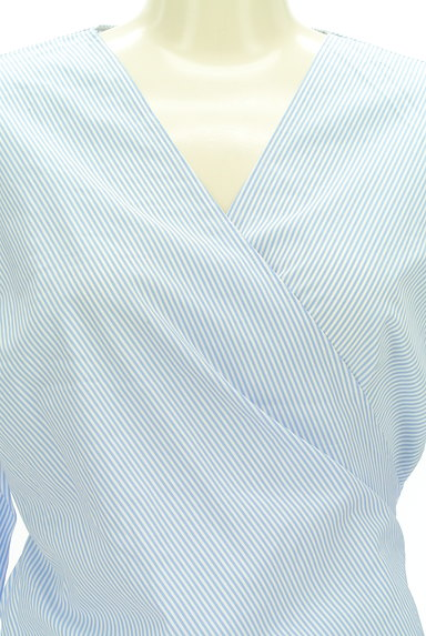23区(23ク)の古着「ストライプ柄カシュクールカットソー(カットソー・プルオーバー)」大画像4へ