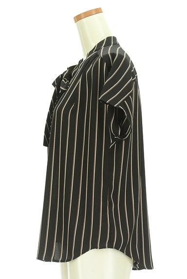 LAUTREAMONT(ロートレアモン)の古着「ストライプ柄ボウタイシフォンブラウス(ブラウス)」大画像3へ
