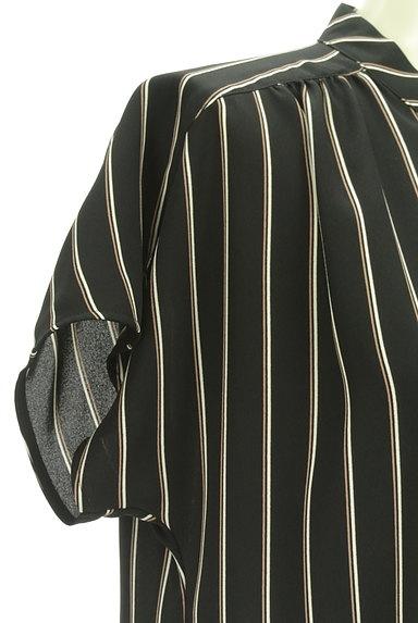 LAUTREAMONT(ロートレアモン)の古着「ストライプ柄ボウタイシフォンブラウス(ブラウス)」大画像5へ