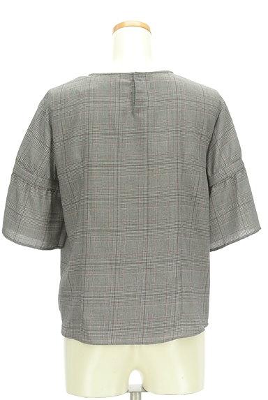 Reflect(リフレクト)の古着「フリル袖チェック柄カットソー(カットソー・プルオーバー)」大画像2へ