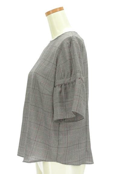 Reflect(リフレクト)の古着「フリル袖チェック柄カットソー(カットソー・プルオーバー)」大画像3へ