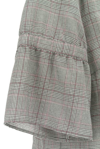 Reflect(リフレクト)の古着「フリル袖チェック柄カットソー(カットソー・プルオーバー)」大画像4へ