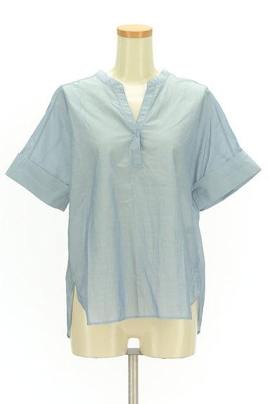 UNITED ARROWS(ユナイテッドアローズ)の古着「スキッパーカラーカットソー(カットソー・プルオーバー)」大画像1へ