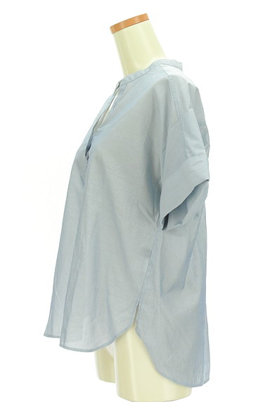 UNITED ARROWS(ユナイテッドアローズ)の古着「スキッパーカラーカットソー(カットソー・プルオーバー)」大画像3へ