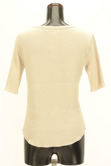 UNITED ARROWS(ユナイテッドアローズ)の古着「ラウンドヘム五分袖リブカットソー(ニット)」大画像2へ