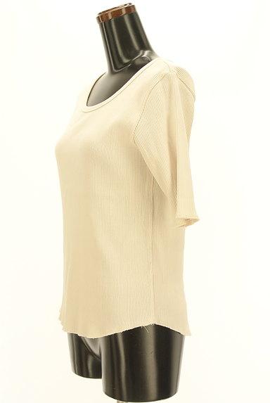 UNITED ARROWS(ユナイテッドアローズ)の古着「ラウンドヘム五分袖リブカットソー(ニット)」大画像3へ