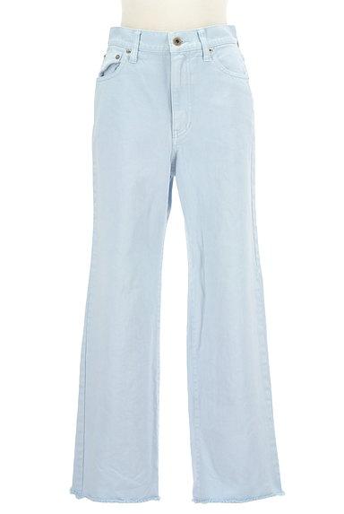 UNITED ARROWS(ユナイテッドアローズ)の古着「裾フリンジストレートデニムパンツ(デニムパンツ)」大画像1へ