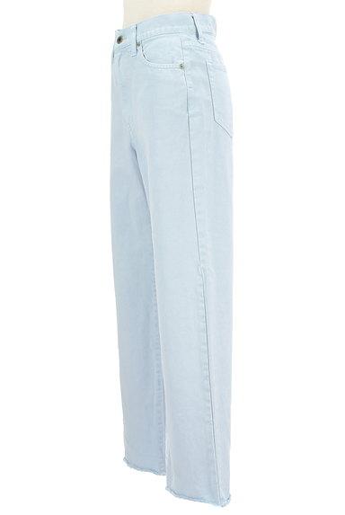 UNITED ARROWS(ユナイテッドアローズ)の古着「裾フリンジストレートデニムパンツ(デニムパンツ)」大画像3へ
