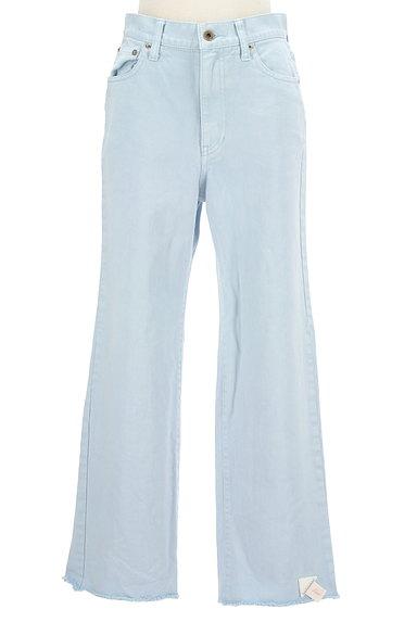 UNITED ARROWS(ユナイテッドアローズ)の古着「裾フリンジストレートデニムパンツ(デニムパンツ)」大画像4へ