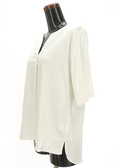 UNITED ARROWS(ユナイテッドアローズ)の古着「5分袖スキッパーカットソー(カットソー・プルオーバー)」大画像3へ