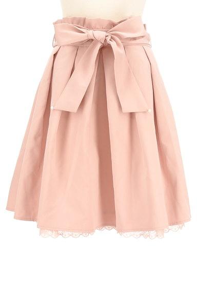 LODISPOTTO(ロディスポット)の古着「パール付きウエストリボン膝丈スカート(スカート)」大画像1へ