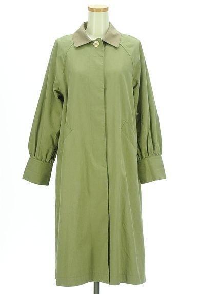 POU DOU DOU(プードゥドゥ)の古着「バイカラー襟ロングラグランコート(コート)」大画像1へ