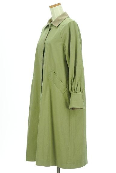 POU DOU DOU(プードゥドゥ)の古着「バイカラー襟ロングラグランコート(コート)」大画像3へ