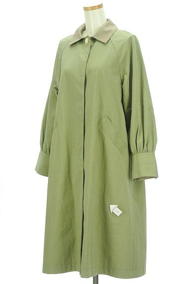 POU DOU DOU(プードゥドゥ)の古着「バイカラー襟ロングラグランコート(コート)」大画像4へ