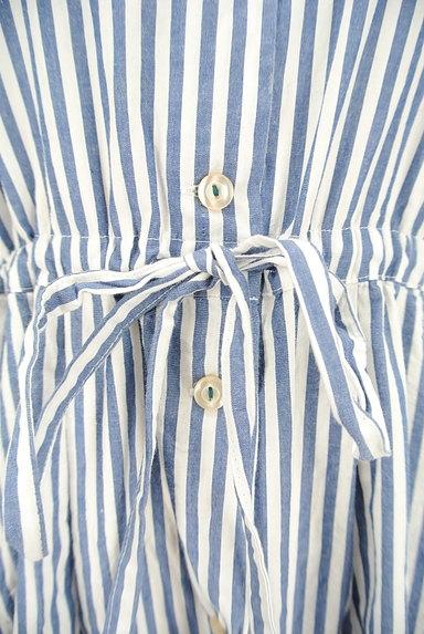 POU DOU DOU(プードゥドゥ)の古着「ミモレ丈ストライプ柄シャツワンピース(ワンピース・チュニック)」大画像5へ
