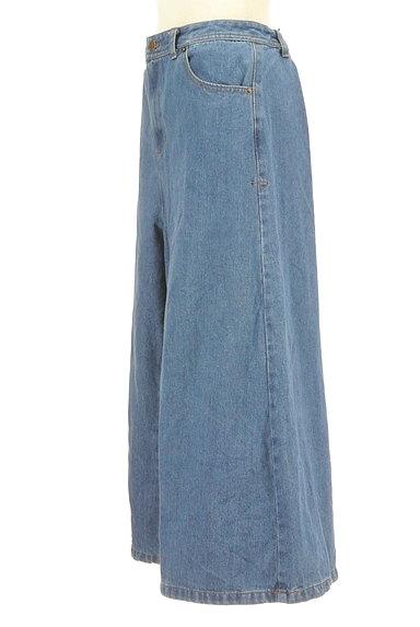 POU DOU DOU(プードゥドゥ)の古着「ミモレ丈ワイドパンツ(デニムパンツ)」大画像3へ