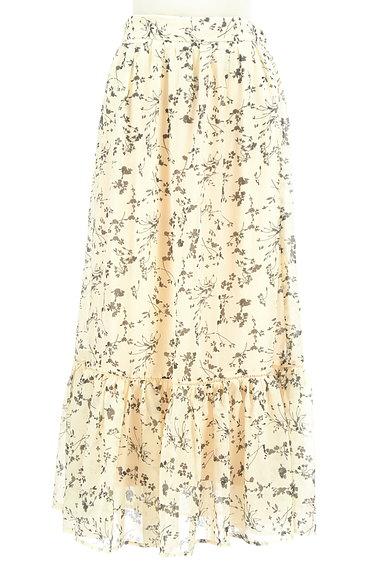 studio CLIP(スタディオクリップ)の古着「花柄切替フリルロングシフォンスカート(ロングスカート・マキシスカート)」大画像1へ