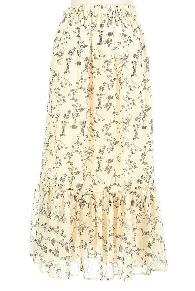 studio CLIP(スタディオクリップ)の古着「花柄切替フリルロングシフォンスカート(ロングスカート・マキシスカート)」大画像2へ