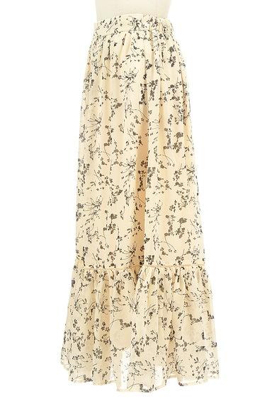 studio CLIP(スタディオクリップ)の古着「花柄切替フリルロングシフォンスカート(ロングスカート・マキシスカート)」大画像3へ