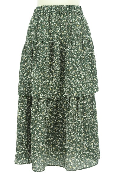 SM2(サマンサモスモス)の古着「ミモレ丈ボリュームティアードスカート(ロングスカート・マキシスカート)」大画像1へ