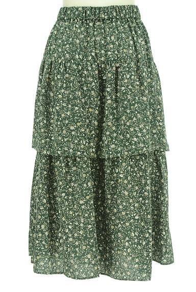 SM2(サマンサモスモス)の古着「ミモレ丈ボリュームティアードスカート(ロングスカート・マキシスカート)」大画像2へ