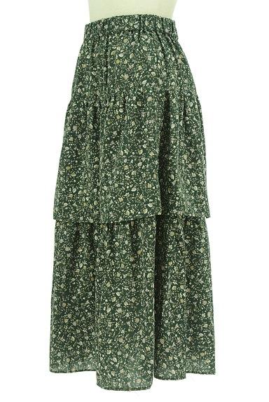 SM2(サマンサモスモス)の古着「ミモレ丈ボリュームティアードスカート(ロングスカート・マキシスカート)」大画像3へ