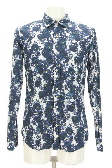 KATHARINE HAMNETT LONDON(キャサリンハムネットロンドン)の古着「ぼかしプリントカジュアルシャツ(カジュアルシャツ)」大画像1へ