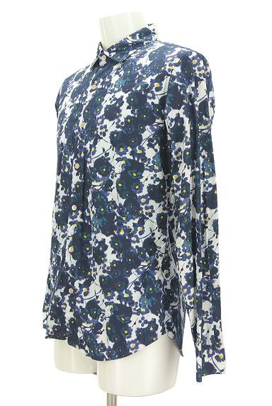 KATHARINE HAMNETT LONDON(キャサリンハムネットロンドン)の古着「ぼかしプリントカジュアルシャツ(カジュアルシャツ)」大画像3へ