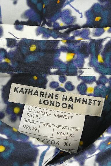 KATHARINE HAMNETT LONDON(キャサリンハムネットロンドン)の古着「ぼかしプリントカジュアルシャツ(カジュアルシャツ)」大画像6へ