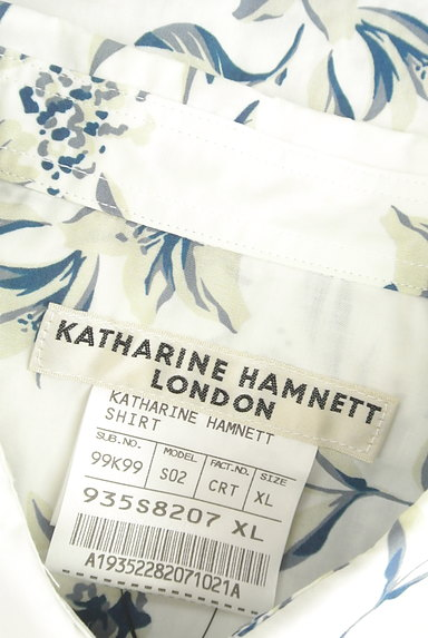 KATHARINE HAMNETT LONDON(キャサリンハムネットロンドン)の古着「アロハな花柄プリントシャツ(カジュアルシャツ)」大画像6へ