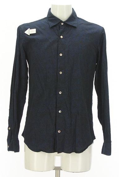 KATHARINE HAMNETT LONDON(キャサリンハムネットロンドン)の古着「ジャガードプリントシャツ(カジュアルシャツ)」大画像4へ